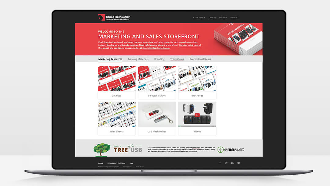 Marketing and Sales Storefront