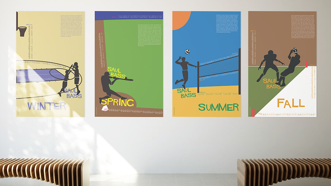 Poster Calendars inspired by Saul Bass